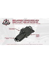 Accionador de bloqueo de puerta de encendido, lado derecho e izquierdo   Compatible con Ford F150, F250, F350, F450, Excursion, Expedition, Mustang   Reemplaza # 6L3Z25218A43AA, 6L3Z25218A42AA   Motor de bloqueo eléctrico, lado del conductor y del pasajer