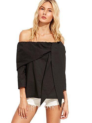 SheIn Womens Casual Shoulder Sleeve