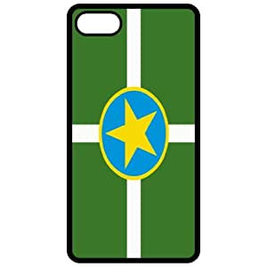 Jackson Mississippi MS City State Flag Black Apple Iphone 5 Cell Phone Case - Cover