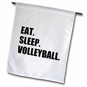 InspirationzStore Eat Sleep series - Eat Sleep Volleyball - black text - beach volley ball player sport fan - 18 x 27 inch Garden Flag (fl_180456_2)