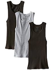 Hanes Ultimate ComfortSoft Boys` Dyed Tank Undershirt, BU392C, S, Assorted