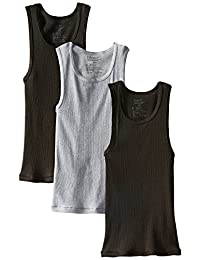 Hanes Boys 3 Pack Ultimate ComfortSoft Dyed Tank