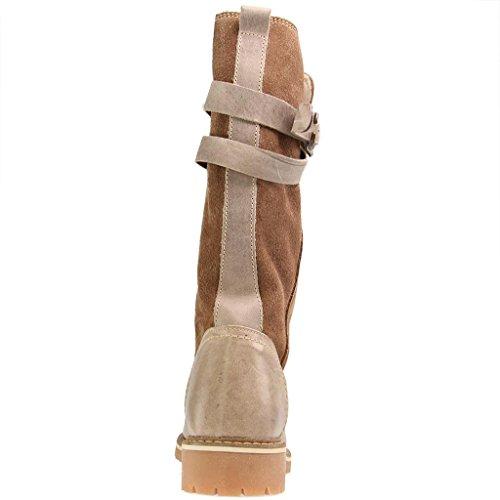 De Mustang Laarzen - Bruine Schoenen In De Maten Op Taupe