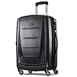 WMB Travel Pro 41v8iKZLLPL._SS247_ Samsonite Winfield 2 Hardside Expandable Luggage with Spinner Wheels, Brushed Anthracite, Checked-Large 28-Inch