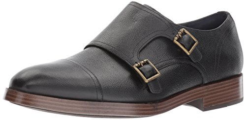 Cole Haan Mens Henry Grand Double Monk Black Grain