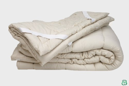 Quilted Organic Wool Mattress Topper Size: Twin 1.5