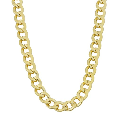 Kooljewelry Mens 14k Yellow Gold Filled 6 mm High Polish Miami Cuban Curb Link Chain Necklace