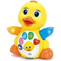 EQ Flapping Yellow Dancing Duck Baby Toy with Light and Music