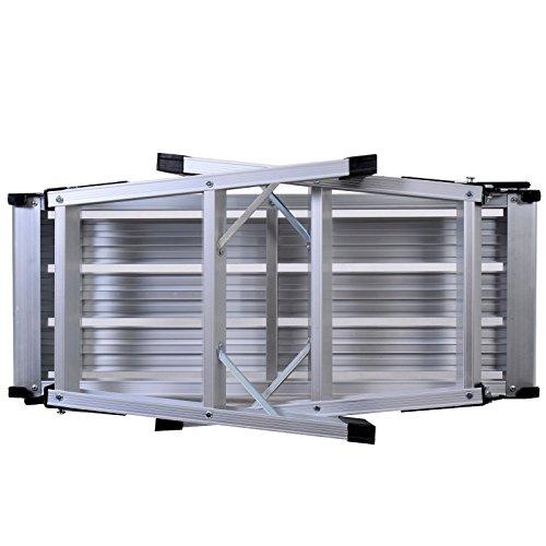 Tangkula Aluminum Platform Drywall Step Up Folding Work