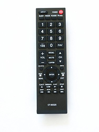 General Remote Replacement Control Fit For Toshiba 32C120U CT-90325 75014374 LCD LED HDTV TV (32c120u Toshiba Tv)