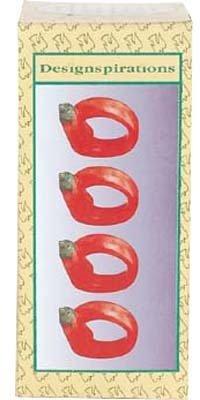UPC 632285118264, Bulk Buys Chili Pepper 4Pc Napkin Rings - Pack of 6