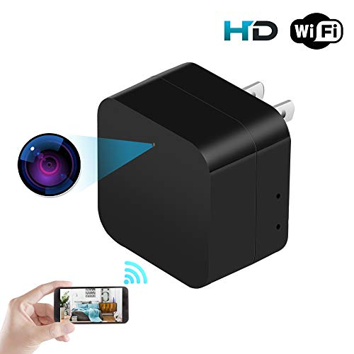 Spy Camera, Nanny Cam Mini Spy Camera Wireless Hidden Wifi Camera Small - Usb Wall Charger Security Cameras System Wireless for Home Secret-HD 1080P Night Vision Motion Detection Surveillance (Plug In Wireless System)