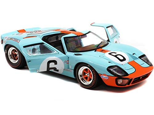 """Ford GT40 MK1#6 J. Ickx - J. Olivier Gulf Oil Winner 24 Hours of Le Mans (1969)""""Competition Series 1/18 Diecast Model Car by Solido S1803003"""