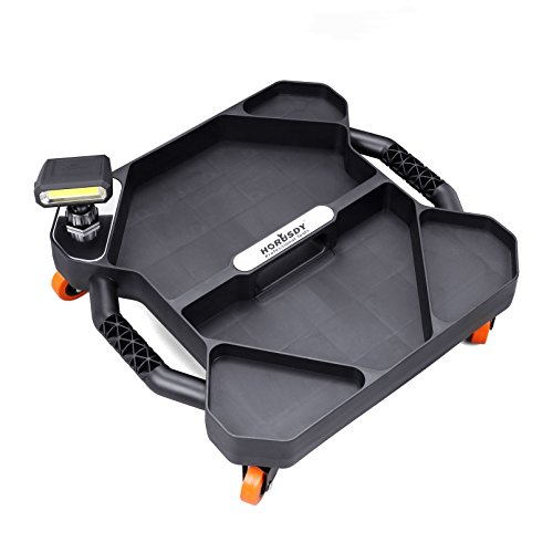 - HORUSDY Car Creeper Tool Tray, Garage Tools, Magnetic LED Rotating Work Light, Professional Automotive Creeper