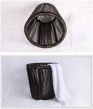 XINYALAMP Sale Hamper Serviette de Bain Panier d'achat Hôtel en Alliage d'aluminium Cadre PE rotin tissé étanche à l'humidité Cadre de Stockage en Tissu