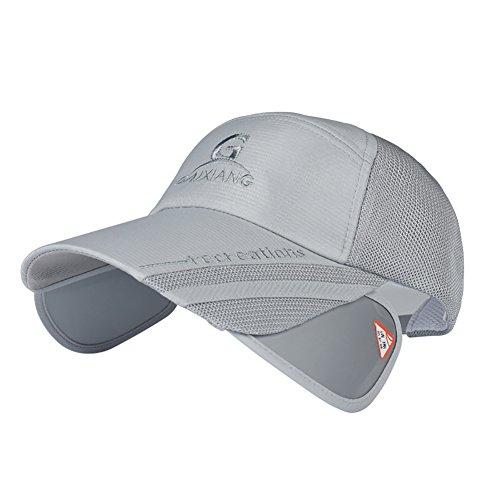 BOBORA サンバイザー 帽子 引出 遮光 くり出しつば ムレ防止 メッシュ キャップ ゴルフ アウトドア 男女兼用 レインハット 自転車用 UVカット 紫外線対策 日焼け対策