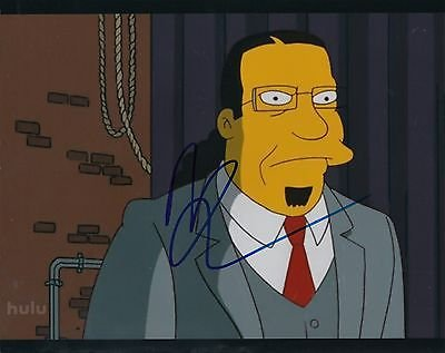 Penn Jillette signed The Simpsons 8x10 photograph w/coa Penn & Teller #2