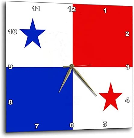 3dRose DPP_28279_1 Panama Flag Wall Clock, 10 by 10