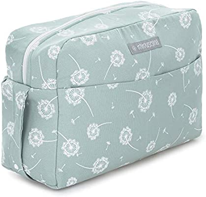 Mimuselina Maternity Bag for Hospital and Baby Stroller Bag for Stroller Maternal Bag or Diaper Bag by Mimuselina Dandelion Mint