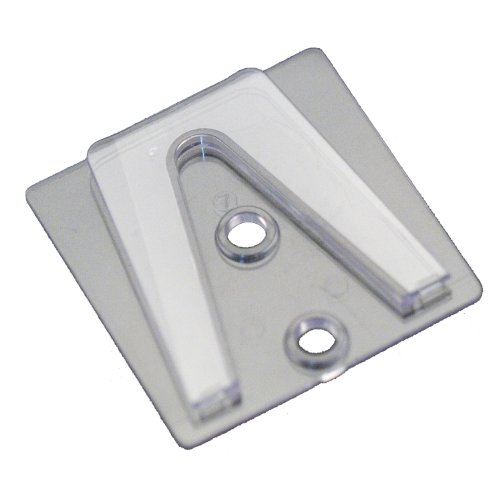 Holiday Lighting Outlet Parapet Clip, Flat Surface Clip to Be Used with Shingle Tab for Christmas Lights, Glue or Screw to Surface, Pack of 25 Parapet Clip