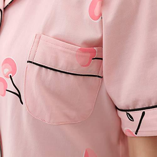 Cinco Coreana Pantalones Mangas Versión Servicio Cortos Traje Mangas Puntos De Home Para En Pijamas Tamaño Domicilio Verano Algodón Femenino El Aumentar Andre Las A Gran Rosados pwzBgqgY