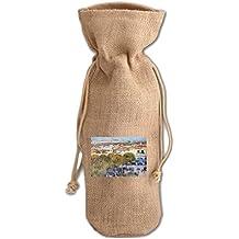 Central Place & Fort Cabanas (Hassam) Jute Burlap Burlap Wine Drawstring Bag