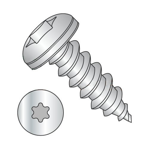 "#12 x 3/8"" Type AB Self-Tapping Screws/Six-Lobe (Torx) / Pan Head / 18-8 Stainless Steel (Carton: 2,000 pcs) 41v8mPzIYSL"