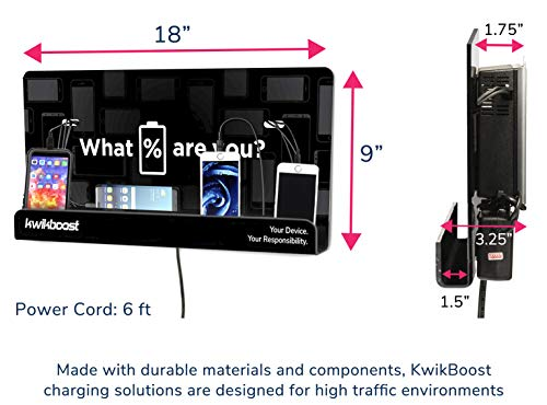 """KwikBoost Wall Mount Cell Phone Charging Station(USA)""""2020"""""""