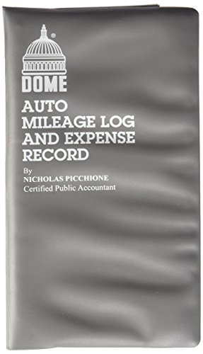 "Dome Publishing Auto Mileage And Expense Record Book   160 Sheet(s)   Wire Bound   1 Part   6.63"" X 3.5"" Sheet Size   White   1Each"