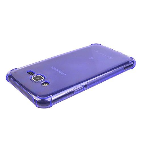 COOLKE Delgado Anti Slip Soft TPU Funda Silicona Protective Carcasa Tapa Case Cover Para Samsung Galaxy J7 (5.5) - púrpura