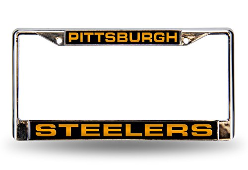 - NFL Pittsburgh Steelers Laser-Cut Chrome Auto License Plate Frame