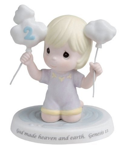 Precious Moments 2nd Year Child in Puddle with Clouds Figurine (Precious Moments Remembrance)