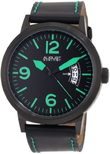 August Steiner Men's ASA812GN Swiss Quartz Bold Military Luminescent - Watch Accessories Swiss Army