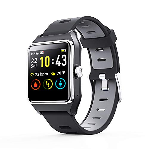 Smart Watch - ENACFIRE W2 IP68 Waterproof Fitness Tracker Smartwatch with GPS, Heart Rate Monitor, Sleep Tracker, Step Counter, Activity Watches for Men, Women, Kids, Compatible with Android iOS Phone
