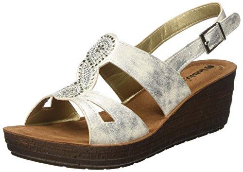 Inblu GM000015, Sandalias con Plataforma Mujer Blanco