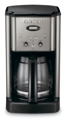 Cuisinart DCC-1200BCH Brew Central 12-Cup Programmable Coffeemaker, Black - Maker Chrome Coffee Brushed