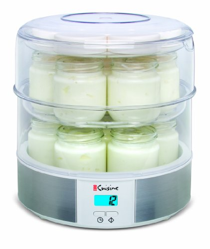 Euro cuisine gy4 top tier yogurt maker import it all for Cuisine generator
