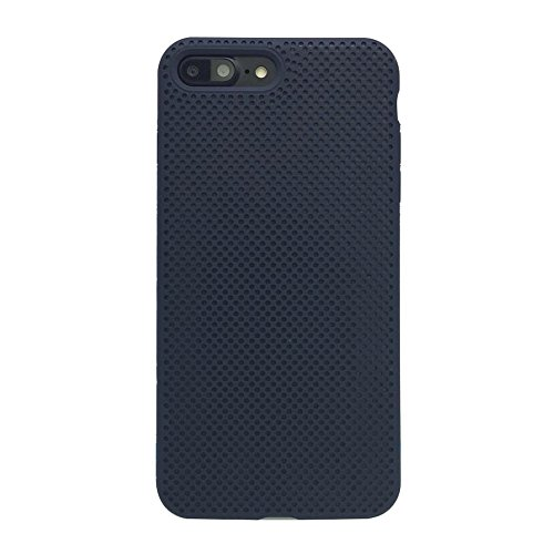 Liquid Silicone Net Dot Gel Rubber Microfiber Phone Case For Apple iPhone 7 Plus / 8 Plus (Midnight ()
