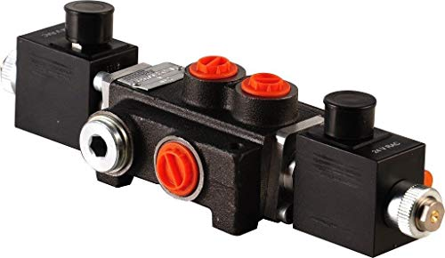 1 Spool Hydraulic Solenoid Directional Control Valve 13gpm 12VDC, monoblock ()