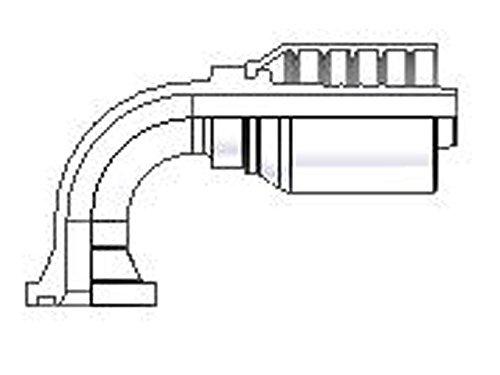 Parker Parkrimp Permanent Standard Pressure KES Flange Head - 90° Elbow (Hydraulic Flange Head)