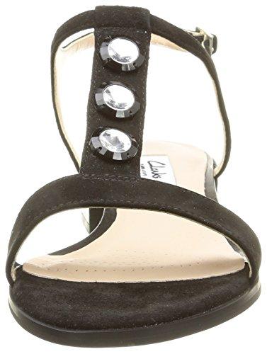 ClarksBliss Shimmer - sandalias en T Mujer Negro (Black Sde)