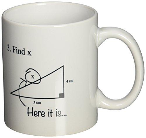 3dRose Geometry Algebra Ceramic 11 Ounce
