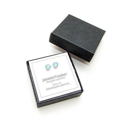Venta-de-liquidacin-925-aretes-de-plata-hechos-a-mano-con-cristales-de-color-Pacific-Opal-brillante-de-SWAROVSKI