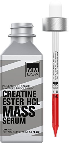 MMUSA HCL Muscle Mass Lean Muscles Gainer & Creatine Energy Booster | Strength Pre-Workout Liquid Serum ● Weightlifting Stamina and Energy from L-Carnitine, L-Glutamine and Nitric Oxide