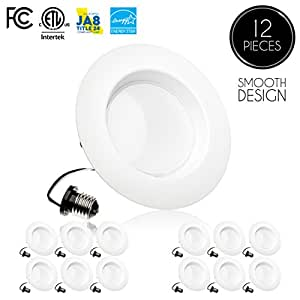 Parmida (12 Pack) 5/6inch Dimmable LED Downlight,15W (120W Replacement),EASY INSTALLATION, Retrofit LED Recessed Lighting Fixture, 3000K (Soft White), 1100Lm, ENERGY STAR & ETL, LED Ceiling Down Light