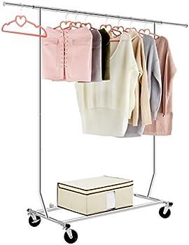Langria Single-Rail Heavy-Duty Rolling Garment Rack