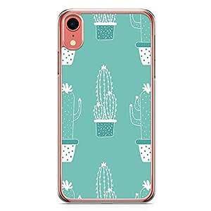 Loud Universe Phone Case For iPhone XR Transparent Edge Green Cactus Phone Cactus Minimalist iPhone XR Cover
