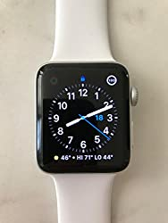 Apple Series 2 Watch For Iphone - 42mm Silver Aluminum Case With White Sport Band