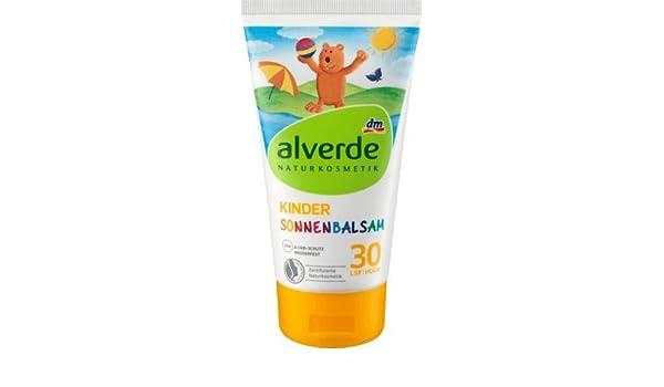 alverde Natural cosmético Bálsamo de sol infantiles SPF 30 (150 ml): Amazon.es: Belleza