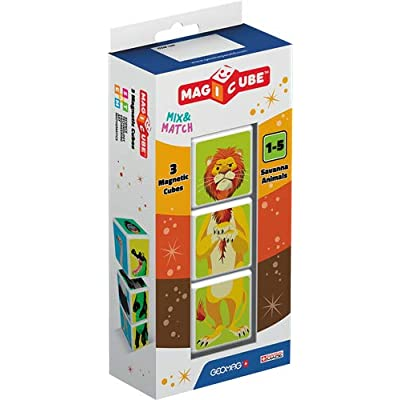 Geomag Magicube Blister Pack 109 - Savanna Animals: Toys & Games